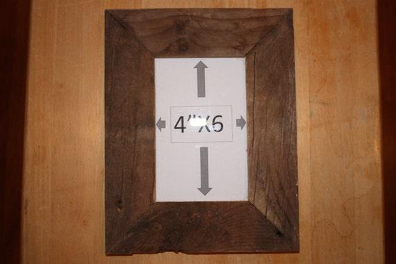 """Handmade Barnwood Picture Frame, 4"""" X 6"""""""