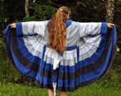 Katwise Inspired ,Repurposed , Cotton Terry Towels,BLUE WATERS  Reversible Elf Robe