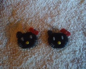 Polymer Clay Hello Kitty Earrings