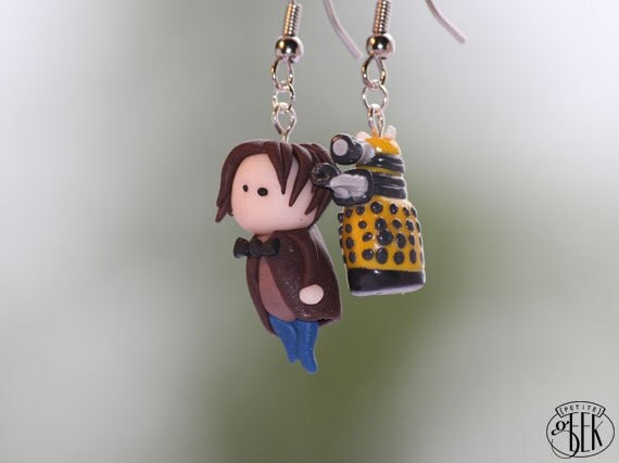 Dr. Who inspired earrings - Dr. Who and Dalek