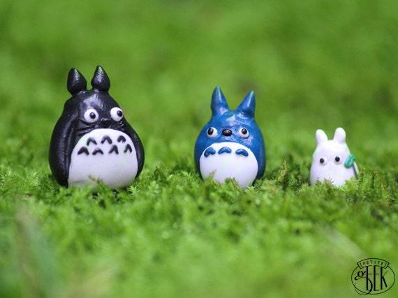 Totoro Blue Totoro & White Totoro Studio Ghibli inspired