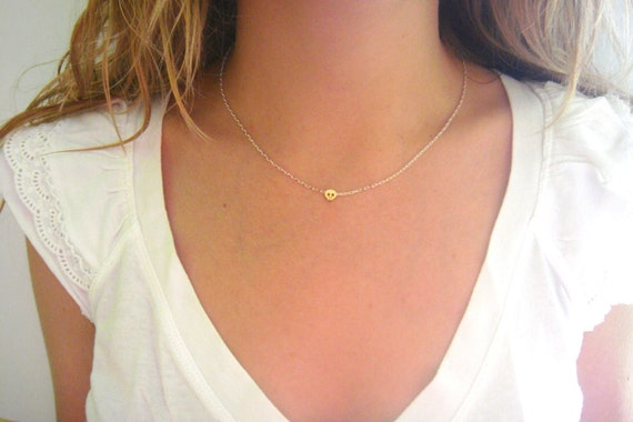 Tiny Skull Necklace - Matte 14k Gold Plated Skull Charm on Gold & White Delicate Chain with Mint Faceted Bead - Boho Jewelry