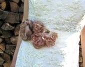 Pale pink sash, Pink flower sash, Pink bridal belt, Bridal pale pink flowers, Wedding pink sash, Pink belt flowers,Bridal sash pale pink