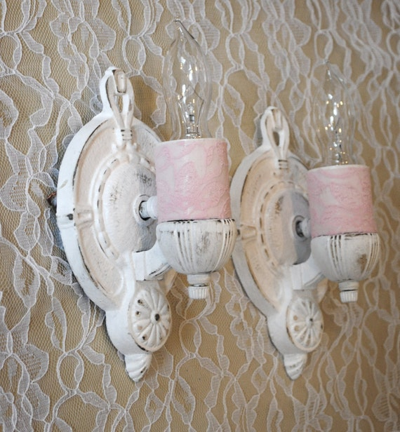 Lighting Sconces Shabby Chic Style Wall Sconce Cottage