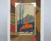 Art Deco Stag & Deer Greeting Card