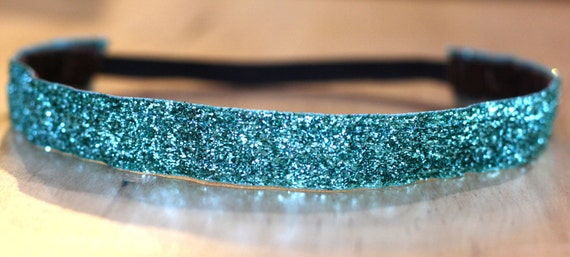Aqua Sparkle Nonslip Headband - 3/4""