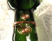 Slumped Glass Wine Bottle Dish