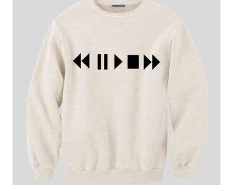 Play Pause Rewind Sweatshirt