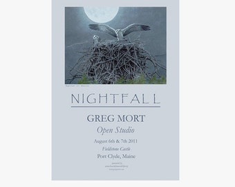 Greg Mort Poster NIGHTFALL Limited Edition Signed Poster