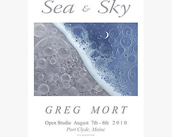 Greg Mort Poster SEA AND SKY Limited Edition Signed Exhibition Print.