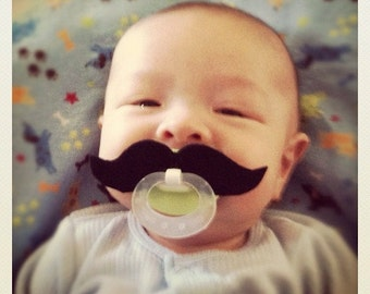 Mustache Pacifier - Black Strongman
