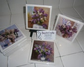 Lilac Ceramic Tile Coaster Set
