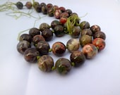 Gemstone beads - Maple jasper Round beads 18mm