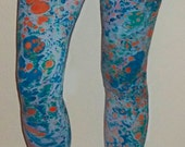 Marbled leggings to luxuriate in, like sea foam on a shore line