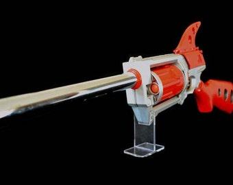 Nerf Maverick Mod , Red Raygun Rifle, retro ,Sci Fi gun laser
