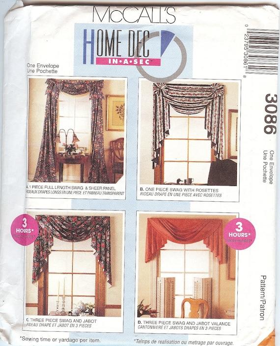 Vintage McCall's Home Dec In-a-Sec 3086 By AtticTreasuresByJudy