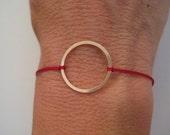 Silk and 14k Gold Filled Bracelet