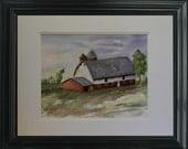 Pennsylvania Dutch Barn - Original Watercolor Painting by Tandy