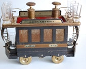 """Vintage Decanter Trolley Car  Musicbox """"How Dry I Am"""""""