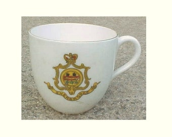 SHERBROOKE Quebec Canada Coat of Arms Souvenir Cup - City Crest of Sherbrooke