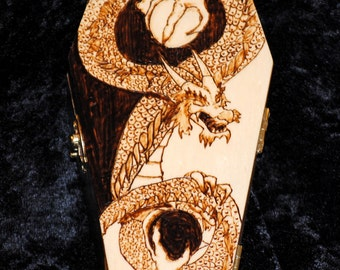 Chinese Dragon Yin Yang Coffin Box