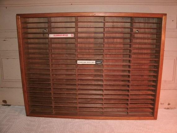 Napa Valley Box Company, Cassette Tape Storage, Wood Slotted Box