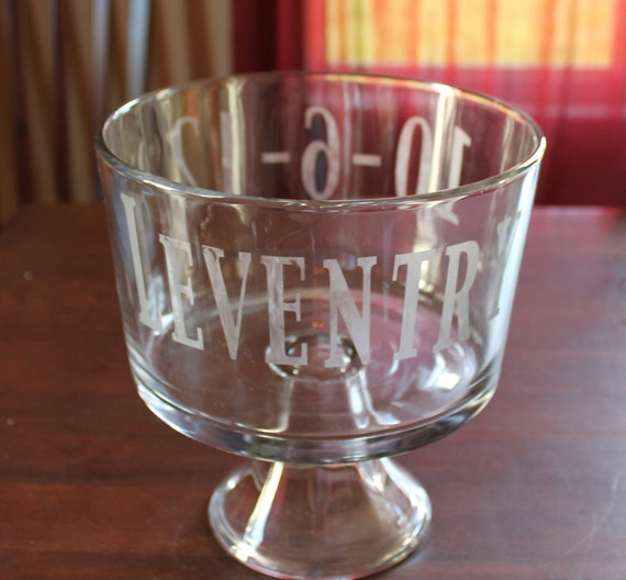 Personalized Trifle Bowl