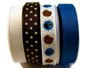 3/8 Cookie Monster Grosgrain Ribbon Mix 8 Yards