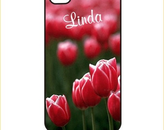 Tulips personalized - iPhone / Android Case / Cover - iPhone 4 / 4s, 5 / 5s, 6 / 6 Plus, Samsung Galaxy s4, s5