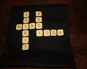 Yoga tshirt with scrabble letters for women xlarge