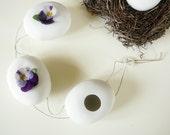 Porcelain garland vases spring home wall decoration