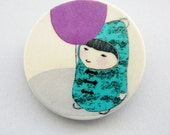 SALE - Brooch Girl with the balloon by Atelier Gilet