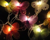 Limited Edition 20 Butterfly Bug Multi Colour Fairy Lights String 3.5M Wedding Party Patio Hanging Home Decor