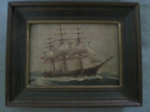Vintage Ship Prints.