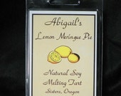 Lemon Meringue Pie Handmade Natural Soy Melting Tart by Abigail's on Main
