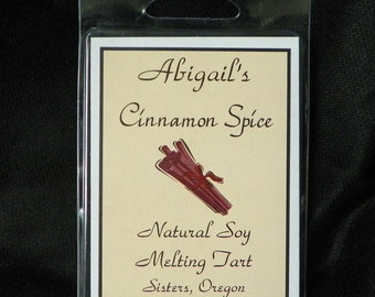 Cinnamon Spice Handmade Natural Soy Melting Tart by Abigail's on Main