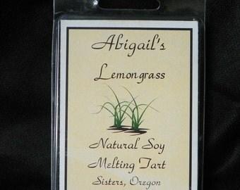 Lemongrass Handmade Natural Soy Melting Tart by Abigail's on Main