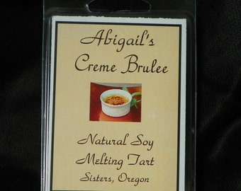 Creme Brulee Handmade Natural Soy Melting Tart by Abigail's on Main