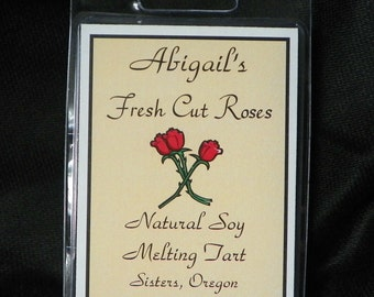 Fresh Cut Roses Handmade Natural Soy Melting Tart by Abigail's on Main