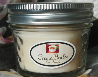 Creme Brulee 4 oz. Jelly Jar Natural Soy Candle by Abigail's on Main