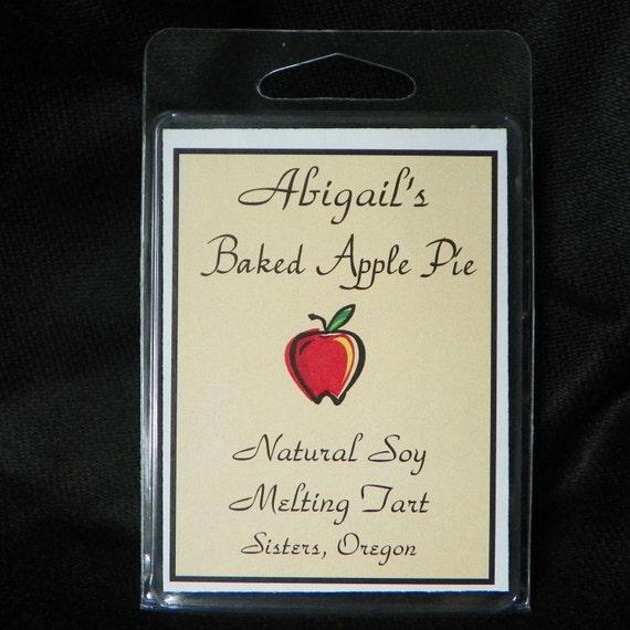 Baked Apple Pie Handmade Natural Soy Melting Tart by Abigail's on Main