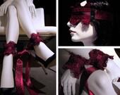 leopard print pleasure cuffs or blindfolds