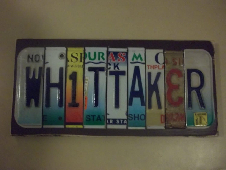 Custom license plate names 8 12 letters for Custom license plate letters