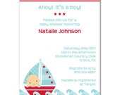 Sailboat Baby Digital Invitation