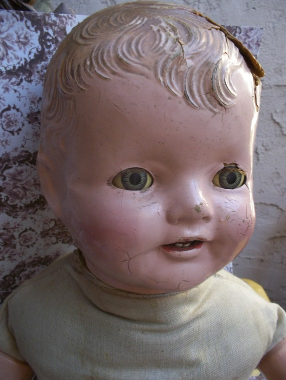 Reserved listing Sophie Smiling  A Happy Composition Doll Antique Collectors Item