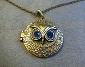 Bronze Colored Metal Owl Locket