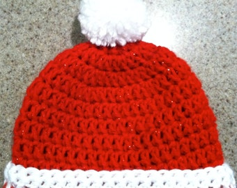 Crochet Baby hat newborn to 24 months. thanksgiving, christmas, new years