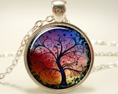 Colorful Tree Of Life Necklace (0630S1IN)