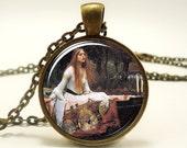 The Lady of Shalott Neckalce, by the English Pre-Raphaelite painter John William Waterhouse (0604B1IN)