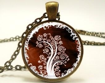 Tree Of Life Pendant, Woodland Jewelry, Bronze (0364B1IN)